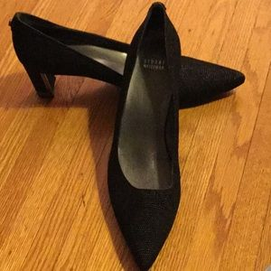 Stuart weitzman black pointed toe 11.5 narrow